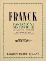 César Franck - Variations Symphoniques. 2 Pianos - Partition - di-arezzo.fr