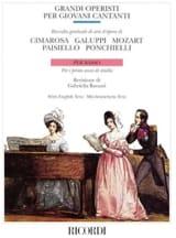 - Grandi Operisti Per Giovani Cantanti. Basse - Partition - di-arezzo.fr