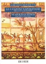 Le Canzoni Napoletane DONIZETTI Partition Mélodies - laflutedepan