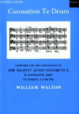 Coronation Te Deum William Walton Partition Chœur - laflutedepan.com