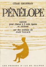 César Geoffray - Pénélope - Partition - di-arezzo.fr