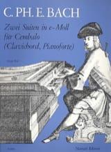 Carl-Philipp Emanuel Bach - 2 Suites En Mi Mineur - Partition - di-arezzo.fr
