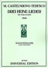 Mario Castelnuovo-Tedesco - 3 Heine-Lieder - Partition - di-arezzo.fr