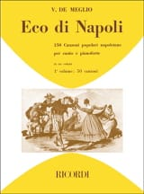 Eco Di Napoli. Volume 1 Partition Mélodies - laflutedepan.com