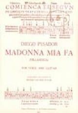 Diego Pisador - Madonna Mia Fa - Partition - di-arezzo.fr