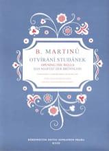 Otvirani Studanek Bohuslav Martinu Partition Chœur - laflutedepan.com