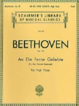 BEETHOVEN - An Die Ferne Geliebte Opus 98 - Partition - di-arezzo.fr
