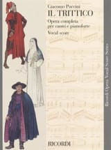 Il Trittico Giacomo Puccini Partition Opéras - laflutedepan.com