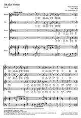 SCHUBERT - An Die Sonne - Sheet Music - di-arezzo.co.uk