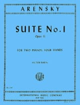 Anton Arensky - Suite N ° 1 Opus 15. 2 Pianos - Sheet Music - di-arezzo.co.uk