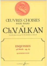 Charles Henri Valentin Aîné Alkan - Esquisses Opus 63 Volume 4 - Partition - di-arezzo.fr