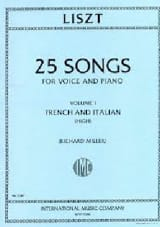 Franz Liszt - 25 Songs Volume 1. Voix Haute - Partition - di-arezzo.fr