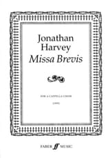 Missa Brevis Jonathan Harvey Partition Chœur - laflutedepan