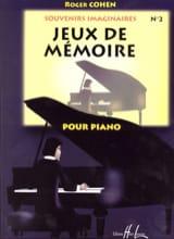 Roger Cohen - Jeux de Mémoire - Partition - di-arezzo.fr