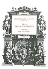 Gesualdo di Venosa, Carlo - 3 sacrae cantiones - Partition - di-arezzo.fr