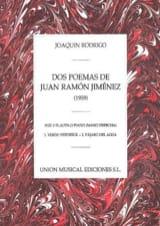2 Poemas de Juan Ramon Jimenez - Joaquin Rodrigo - laflutedepan.com