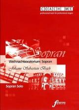 Weihnachtsoratorium BWV 248. Soprano. CD BACH laflutedepan.com
