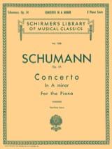 Robert Schumann - Concerto Pour Piano En la Mineur Opus 54 - Partition - di-arezzo.fr
