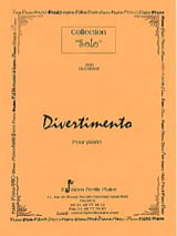 Divertimento Alain Duchesne Partition Piano - laflutedepan.com