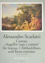 Augellin Vago E Canoro Alessandro Scarlatti Partition laflutedepan.com
