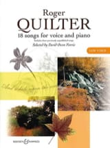 Roger Quilter - 18 Songs. Deep voice - Sheet Music - di-arezzo.com
