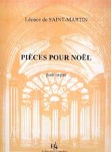 Léonce de Saint-Martin - Pièces Pour Noël - Partition - di-arezzo.fr