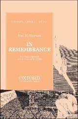 Hopson - In Remembrance - Partition - di-arezzo.fr