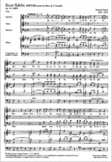 Ecce Fidelis Servus Op. 54 - Gabriel Fauré - laflutedepan.com