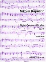 8 Etudes de Concert Opus 40 Nikolai Kapustin Partition laflutedepan