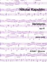 Variations Opus 41 Nikolai Kapustin Partition Piano - laflutedepan.com