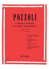 Ettore Pozzoli - Il Primi Esercizi Di Stile Polifonico - Partition - di-arezzo.fr