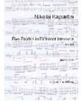 Nikolai Kapustin - 5 Etudes In Different Intervals Opus 68 - Partition - di-arezzo.fr
