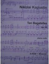 10 Bagatelles Op. 59 - Nikolai Kapustin - Partition - laflutedepan.com