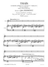 O mon Miroir Fidèle. Thaïs Jules Massenet Partition laflutedepan.com
