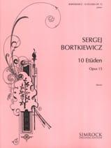 Serge Bortkiewicz - 10 Etudes Opus 15 - Partition - di-arezzo.fr