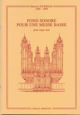 Fond Sonore Pour une Messe Basse Op. 44 laflutedepan.com