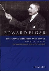 Edward Elgar - 5 Unaccompanied Part Songs Opus 71, 72, 73 - Partition - di-arezzo.fr