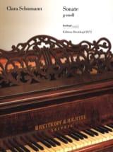 Clara Schumann-Wieck - Sonate Sol mineur - Partition - di-arezzo.fr
