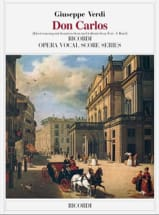 Giuseppe Verdi - Don Carlos In 2 Volumes. 5 Acts - Sheet Music - di-arezzo.co.uk