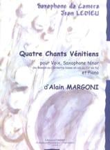 4 Chants Vénitiens - Alain Margoni - Partition - laflutedepan.com