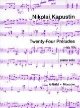 24 Préludes Opus 53 Nikolai Kapustin Partition laflutedepan.com