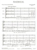 Madrigal - Opus 35 - Gabriel Fauré - Partition - laflutedepan.com