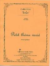 Petit Thème Varié - Gérard Meunier - Partition - laflutedepan.com