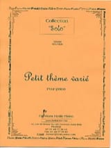 Petit Thème Varié Gérard Meunier Partition Piano - laflutedepan.com