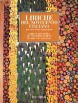 Liriche de Novecento Italiano. Voix Haute Partition laflutedepan.com