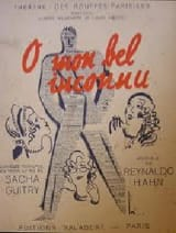 O Mon Bel Inconnu Reynaldo Hahn Partition laflutedepan.com