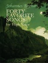 40 Favorite Songs. Voix Haute BRAHMS Partition laflutedepan.com
