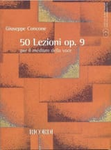 Giuseppe Concone - 50 Lezioni Opus 9 - Partition - di-arezzo.fr