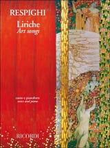 Liriche Ottorino Respighi Partition Mélodies - laflutedepan.com