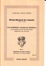 Les 3 Leçons de Ténèbres Michel-Richard de Lalande laflutedepan.com